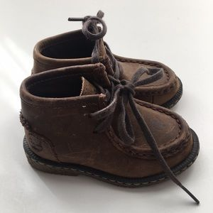 Timberland genuine leather baby boots size 4.